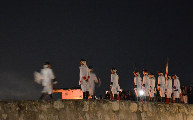 The nightly cañonazo ceremony at the Morro Fort in Havana. (Photo by Daniel Juarez)
