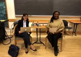 Professor Maria Jose Hierro facilitated the discussion with Paula Moreno.