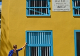 Maile Speakman at the birthplace of Jose Marti, father of the Cuban struggle for independence.