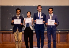 The winning team (from left to right): Qusay Omran, Abigail Leonard, Henry Suckow-Ziemer, and Jake Mezey