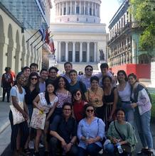 Students and Faculty in front of the Capitolio in Havana (Photo by Daniel Juarez)