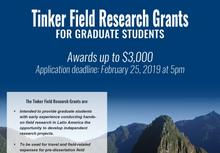 764fcf0e55b89e Tinker Field Research Grants To view the full poster